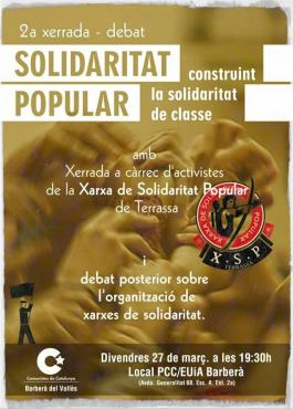 xerrada solidaritat popular Comunistes de Catalunya Barberà