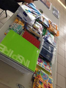 recollida de material escolar