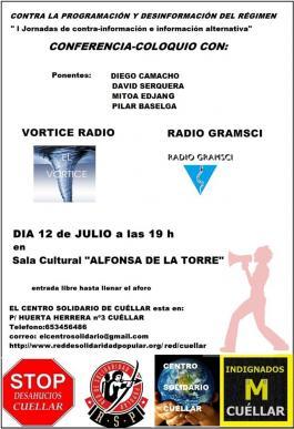 Charla-Coloquio Radio Vórtice y Radio Gramsci