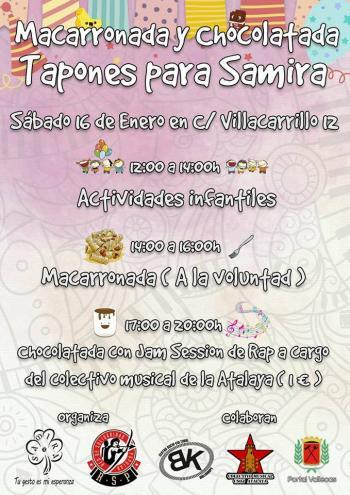 Tapones para Samira: Macarronada, chocolatada y mucho más